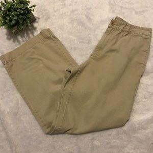 J.Crew Khaki Wide Leg Chino Pants